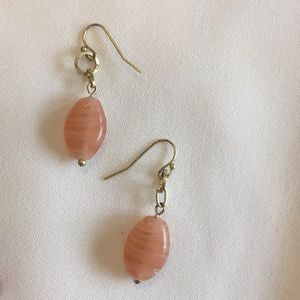 Coral earrings with gold hangers